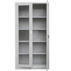 Armario de Aco com duas portas para aplicacao de vidro 247x247 - ARMÁRIO DE AÇO COM MOLDURA PARA VIDRO