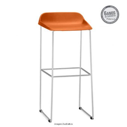 Banqueta Bit cor laranja 510x510 - Banqueta fixa Bit