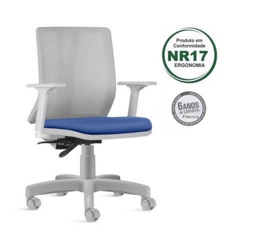 Cadeira Addit giratoria cinza 1 510x478 - Cadeira Addit Giratória Ergonômica Cinza