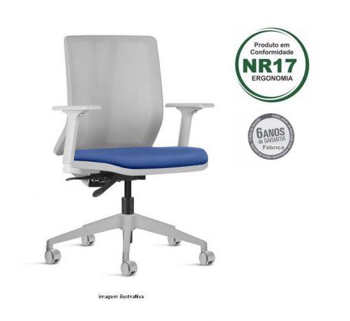 Cadeira Addit giratoria cinza base arcada 1 510x468 - Cadeira Addit Giratória Ergonômica Cinza