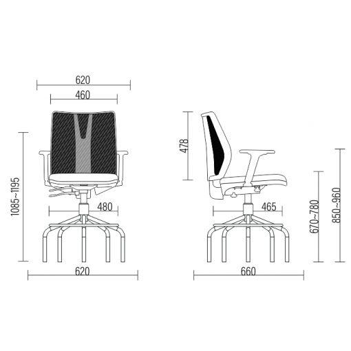 Cadeira Caixa Addit Alta medidas 510x510 - Cadeira Caixa Addit Ergonômica Cinza aro Alta