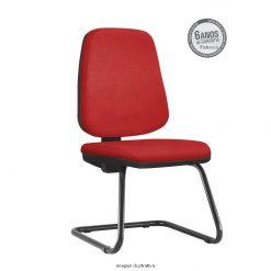 Cadeira Fixa Job Diretor Sem Bracos Vermelha 1 247x247 - Cadeira Job Diretor fixa sem braços