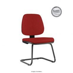 Cadeira Fixa Job Executiva Sem Bracos vermelha 1 247x247 - Cadeira Job Executiva fixa sem braços