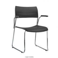 Cadeira Nina fixa cromada com bracos 247x247 - Cadeira fixa Nina com braços