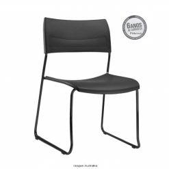 Cadeira Nina fixa preta sem bracos 247x247 - Cadeira fixa Nina