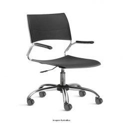 Cadeira Nina giratoria cromada com bracos 247x247 - Cadeira Nina giratória
