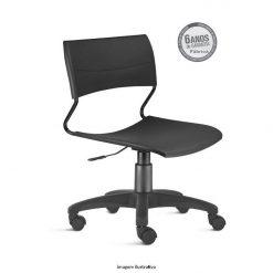 Cadeira Nina giratoria preta sem bracos 247x247 - Cadeira Nina giratória