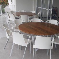 Cadeira Shine ambiente 247x247 - Cadeira fixa Shine com braços