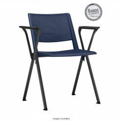 Cadeira Up fixa azul com bracos 247x247 - Cadeira UP Fixa com Braços