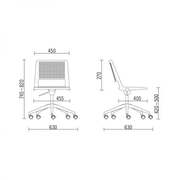 Cadeira Up giratoria sem bracos medidas - Cadeira UP Giratória com braços