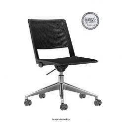 Cadeira Up giratoria sm bracos preta 247x247 - Cadeira UP Giratória sem braços
