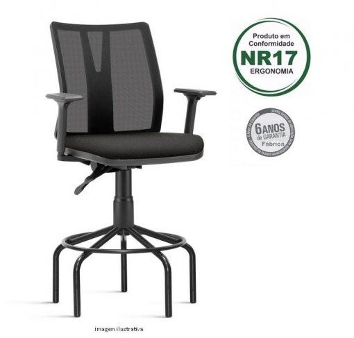 Cadeira caixa Addit alta 510x487 - Cadeira Caixa Addit Ergonômica