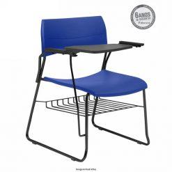 cadeira universitaria nina fixa com porta livros azul 247x247 - Cadeira Universitária Nina com prancheta escamoteável