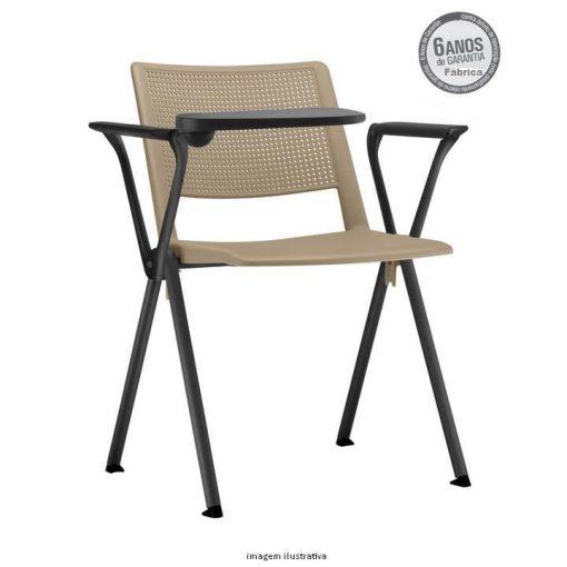 cadeira universitaria up areia estrutura preta 1 510x510 - Cadeira UP Universitária Prancheta Escamoteável