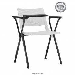 cadeira universitaria up branca estrutura preta 1 247x247 - Cadeira UP Universitária Prancheta Escamoteável