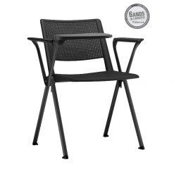 cadeira universitaria up preta estrutura preta 1 247x247 - Cadeira UP Universitária Prancheta Escamoteável