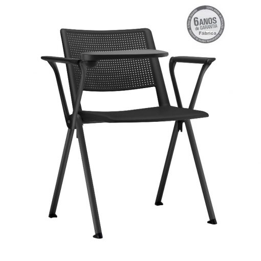 cadeira universitaria up preta estrutura preta 1 510x510 - Cadeira UP Universitária Prancheta Escamoteável