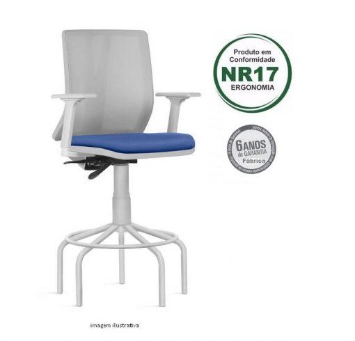 Cadeira Addit caixa alta cinza 510x490 - Cadeira Caixa Addit Ergonômica Cinza aro Alta