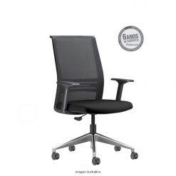 Cadeira Agile Presidente cromada sem apoio de cabeça 247x247 - Poltrona Presidente Agile
