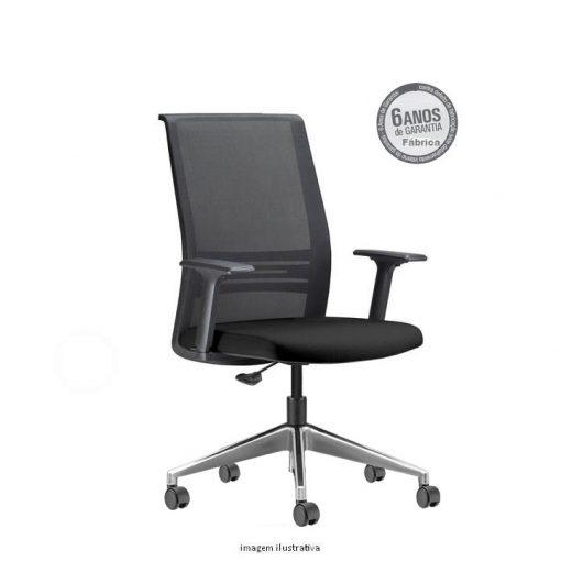 Cadeira Agile Presidente cromada sem apoio de cabeça 510x510 - Poltrona Presidente Agile