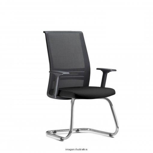 Cadeira Agile Presidente fixa cromada 510x510 - Poltrona Presidente Agile  Fixa