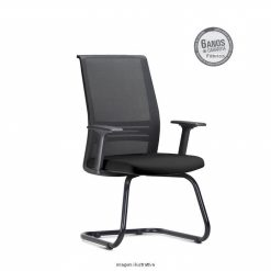 Cadeira Agile Presidente fixa preta 247x247 - Poltrona Presidente Agile  Fixa