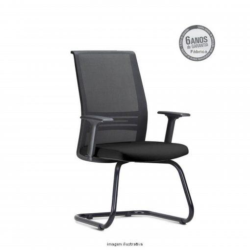 Cadeira Agile Presidente fixa preta 510x510 - Poltrona Presidente Agile  Fixa