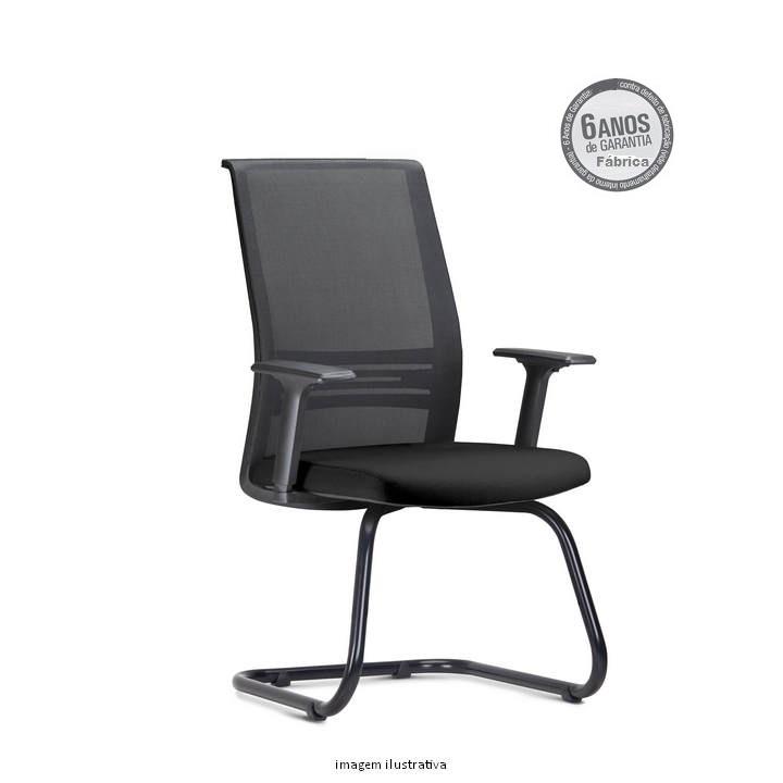 Cadeira Agile Presidente fixa preta - Cadeira Executiva Giratória Ergonômica Parma