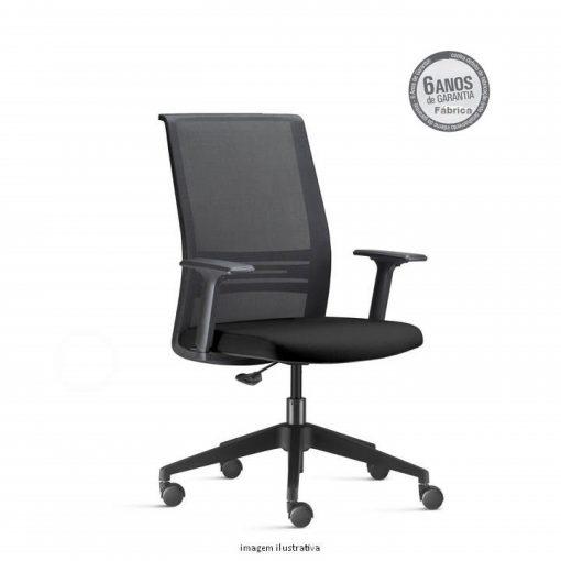 Cadeira Agile Presidente preta sem apoio de cabeça 510x510 - Poltrona Presidente Agile