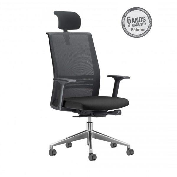 Cadeira Agile com apoio de cabeça 1 - Poltrona Presidente Agile