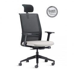 Cadeira Agile com apoio de cabeça 247x247 - Poltrona Presidente Agile com Apoio de Cabeça