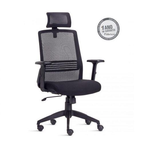 Cadeira Joy 1 510x499 - Cadeira Joy Presidente Giratória Com de Cabeça