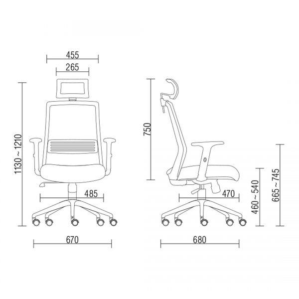Cadeira Joy giratoria relax com apoio na cabeca dimensoes - Cadeira Joy Presidente Giratória Com de Cabeça