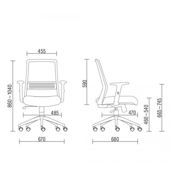 Cadeira Joy giratoria relax sem apoio na cabeca dimensoes - Cadeira Joy Diretor Giratória Com Apoio Lombar