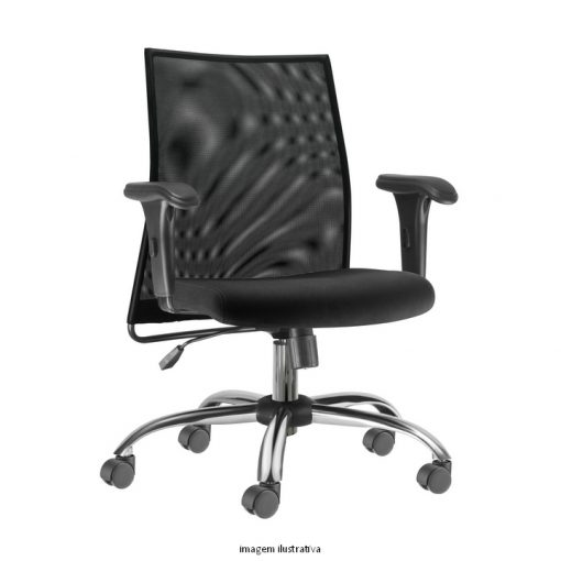 Cadeira Liss giratoria com bracos cromad 510x510 - Cadeira Diretor Liss Giratória com braços