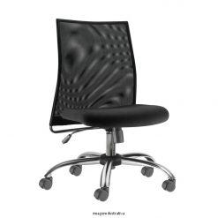 Cadeira Liss giratoria sem bracos cromada 247x247 - Cadeira Diretor Liss Giratória sem braços