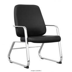 Cadeira Maxxer fixa cromada 247x247 - Cadeira Maxxer Diretor Fixa para 150 quilos estrutura Cromada