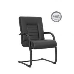 Cadeira New Onix Class diretor fixa preta 247x247 - Cadeira Diretor Fixa New Onix Class estrutura Cromada