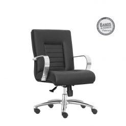 Cadeira New Onix Class diretor giratoria cromada 247x247 - Cadeira Diretor Giratória New Onix Class estrela em Alumínio