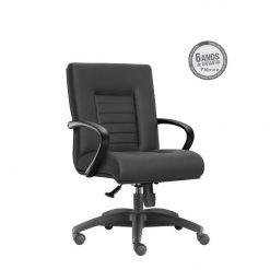 Cadeira New Onix Class diretor giratoria preta 247x247 - Cadeira Diretor Giratória New Onix Class estrela em Alumínio