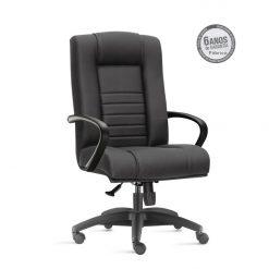Cadeira New Onix Class presidente preta 247x247 - Cadeira Presidente Giratória New Onix Class estrela em Alumínio