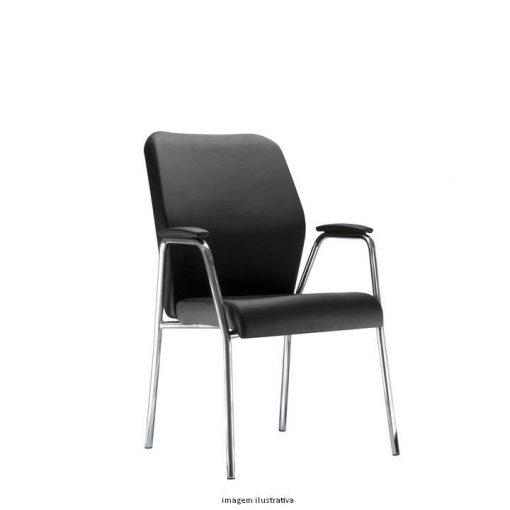 Cadeira Pointer Presidente diretor fixa cromada 510x510 - Cadeira Pointer Premium Diretor Fixa