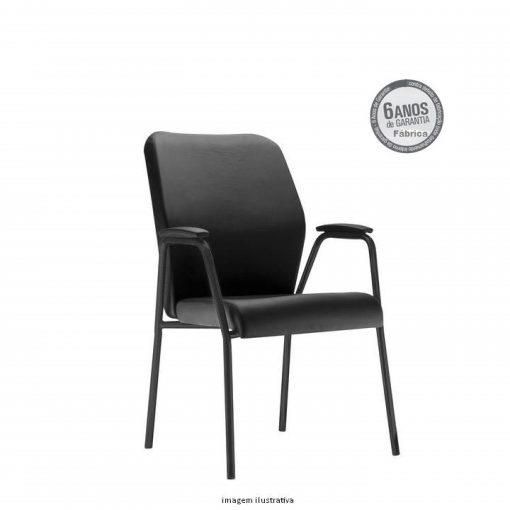 Cadeira Pointer Presidente diretor fixa preta 510x510 - Cadeira Pointer Premium Diretor Fixa