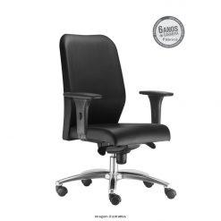 Cadeira Pointer Presidente giratoria cromada com bracos 247x247 - Cadeira Pointer Premium Presidente giratória