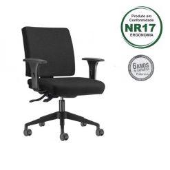 Cadeira Simple Executiva base piramidal 247x247 - Cadeira Simple Executiva Giratória Ergonômica
