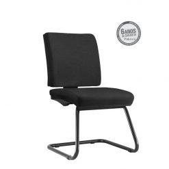 Cadeira Simple Operativa sem fixa bracos preta 247x247 - Cadeira Simple Executiva Fixa sem braços