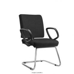 Cadeira Simple Operativafixa com bracos cromada 247x247 - Cadeira Simple Executiva Fixa com braços
