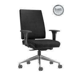 Cadeira Simple Presidente com bracos cromada 247x247 - Cadeira Simple Presidente Giratória Ergonômica