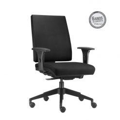 Cadeira Simple Presidente com bracos preta 247x247 - Cadeira Simple Presidente Giratória Ergonômica