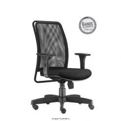 Cadeira Soul Presidente com bracos preta sem apoio de cabeca 247x247 - Cadeira Soul Presidente Giratória